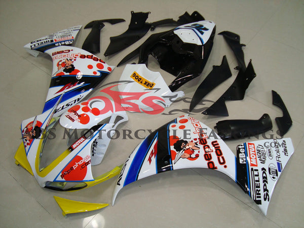 Pepe Phone White & Yellow 2009-2011 Yamaha YZF-R1