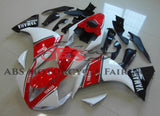 Red, White & Black Fairing Kit for a 2009, 2010 & 2011 Yamaha YZF-R1 motorcycle.