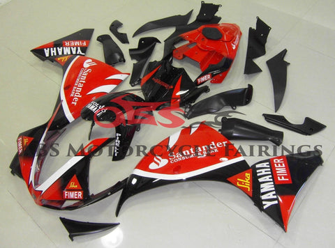 Yamaha YZF-R1 (2012-2014) Red & Black Santander Fairings