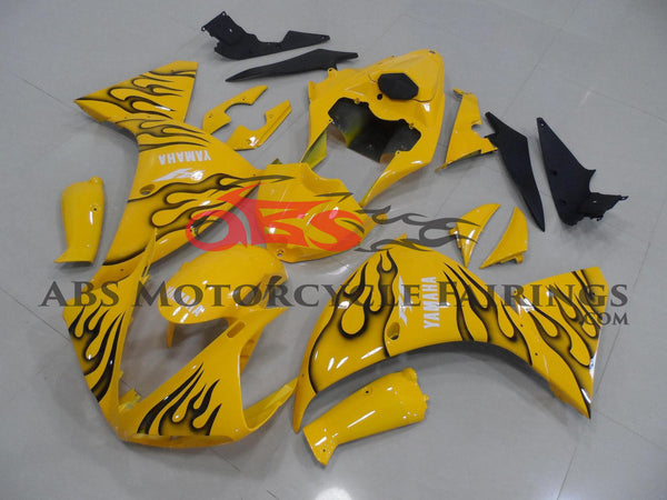 Yellow with Black Flame 2009-2011 Yamaha YZF-R1