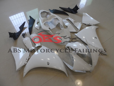White Prime Painted 2012-2013 Yamaha YZF-R1