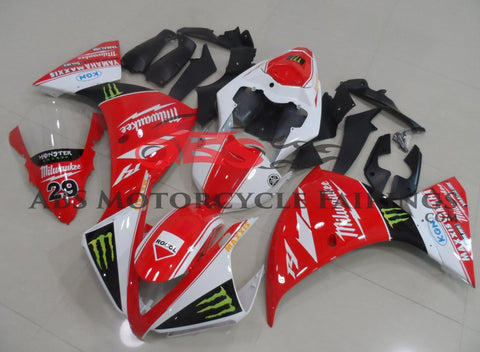 Yamaha YZF-R1 (2012-2014) Red, White & Black Monster Fairings