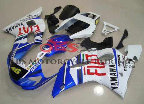 Blue, White and Red FIAT #46 Fairing Kit for a 1998, 1999, 2000, 2001 & 2002 Yamaha YZF-R6 motorcycle