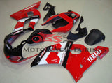 Black, Red and White Deltabox Fairing Kit for a 1998, 1999, 2000, 2001 & 2002 Yamaha YZF-R6 motorcycle