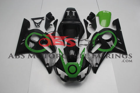 Black with Green Circles 1998-2002 Yamaha YZF-R6