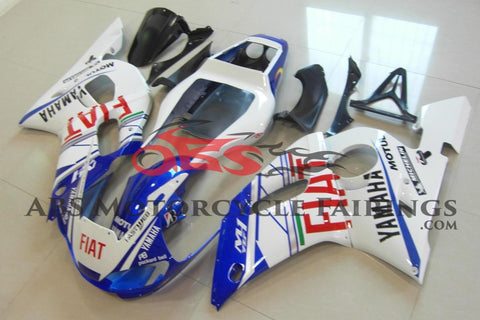 White, Blue and Red FIAT Fairing Kit for a 1998, 1999, 2000, 2001 & 2002 Yamaha YZF-R6 motorcycle