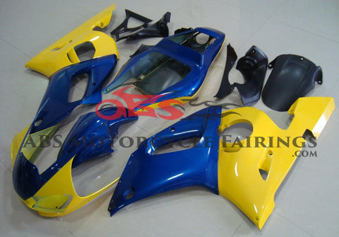 Yellow and Blue Fairing Kit for a 1998, 1999, 2000, 2001 & 2002 Yamaha YZF-R6 motorcycle