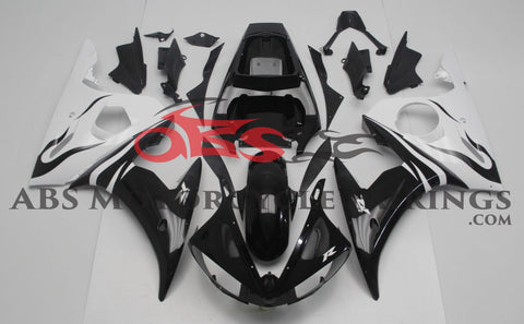 Black & White 2003-2005 Yamaha YZF-R6