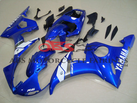 Blue with White Decals 2003-2005 Yamaha YZF-R6