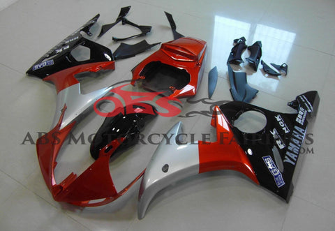 Orange, Silver and Black Fairing Kit for a 2003 & 2004 Yamaha YZF-R6 motorcycle