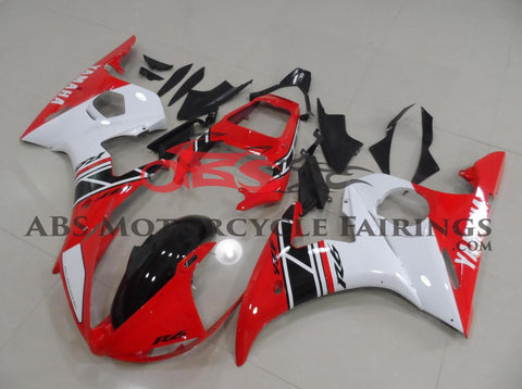 Red with Black Stripe 2003-2005 Yamaha YZF-R6