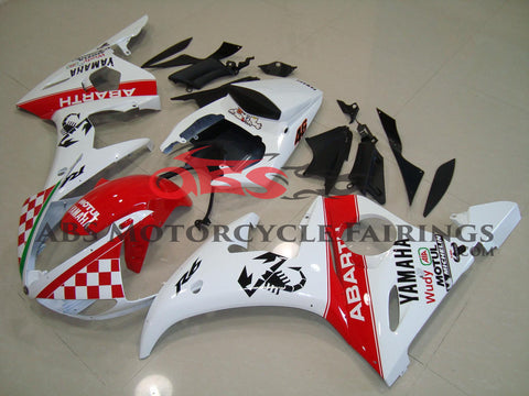 Abarth Scorpion Red & White 2003-2005 Yamaha YZF-R6