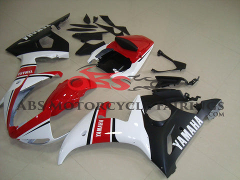 Matte Black Red & White 2003-2005 Yamaha YZF-R6