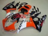 Orange, White and Black Repsol Fairing Kit for a 2003 & 2004 Yamaha YZF-R6 motorcycle