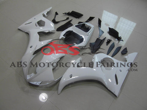 White without Decals 2003-2005 Yamaha YZF-R6