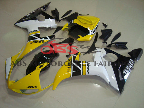 Yellow with Black Stripe 2003-2005 Yamaha YZF-R6