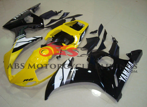 Yellow & Black with White Stripe 2003-2005 Yamaha YZF-R6