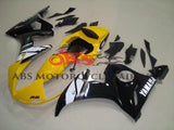 Yellow, Black and White Fairing Kit for a 2005 Yamaha YZF-R6 motorcycle