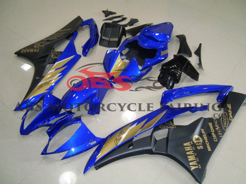 Black & Blue with Gold Sticker 2006-2007 Yamaha YZF-R6
