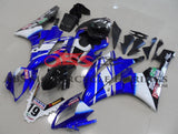 Blue, White and Black Fairing Kit for a 2006 & 2007 Yamaha YZF-R6 motorcycle