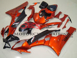 Orange and Matte Black Fairing Kit for a 2006 & 2007 Yamaha YZF-R6 motorcycle