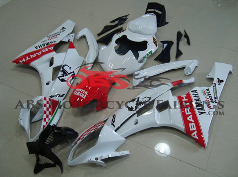 Abarth Scorpion Red & White 2006-2007 Yamaha YZF-R6
