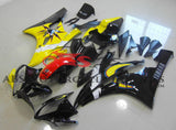 Black, Yellow, Sun and Moon Fairing Kit for a 2006 & 2007 Yamaha YZF-R6 motorcycle