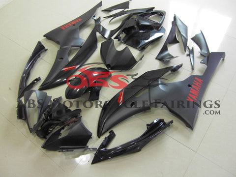 Matte Black with Red Decals 2008-2012 Yamaha YZF-R6