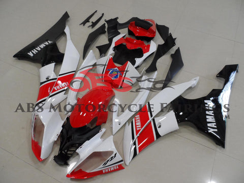 Red Black & White 2008-2013 Yamaha YZF-R6