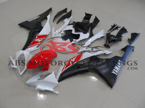 Matte Black Red & White 2008-2013 Yamaha YZF-R6