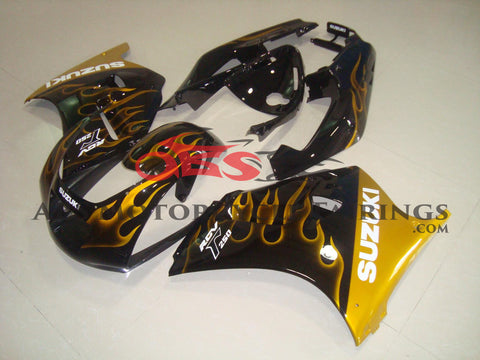 Black with Yellow Flame 1991-1996 Suzuki RGV250 VJ22