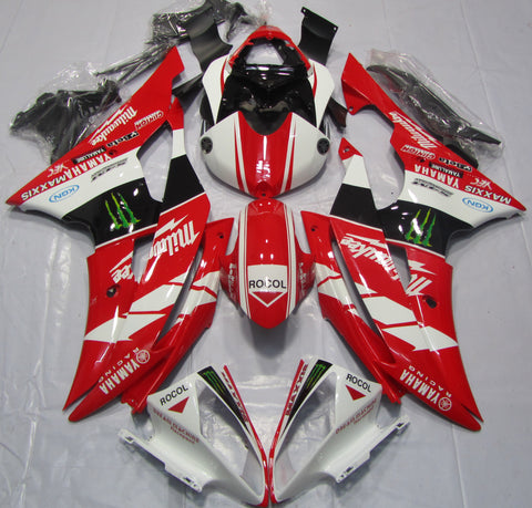 Red, White & Black Racing fairing kit for Yamaha YZF-R6 2008, 2009, 2010, 2011, 2012, 2013, 2014, 2015, 2016 motorcycles