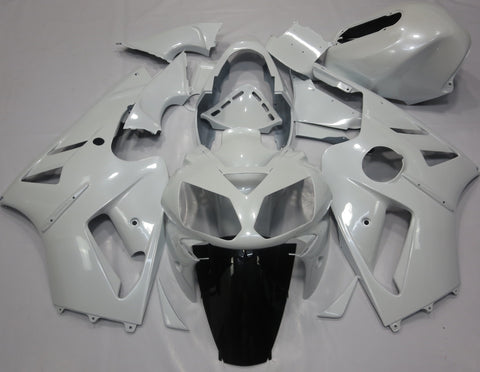 White Fairing Kit for Kawasaki ZX-12R 2002, 2003, 2004, 2005, 2006 motorcyclesKAWASAKI NINJA ZX12R (2002-2006) WHITE FAIRINGS