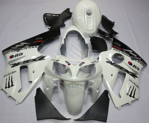 Kawasaki Ninja ZX12R (2000-2001) White & Black Monster Energy Fairings