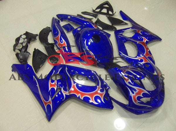 Blue with Flame Decals 1997-2007 Yamaha YZF600R