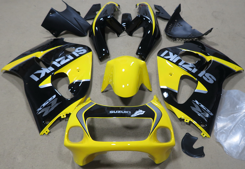 1996, 1997, 1998, 1999 BLACK & YELLOW SUZUKI GSXR600 Motorcycle Fairings Kit