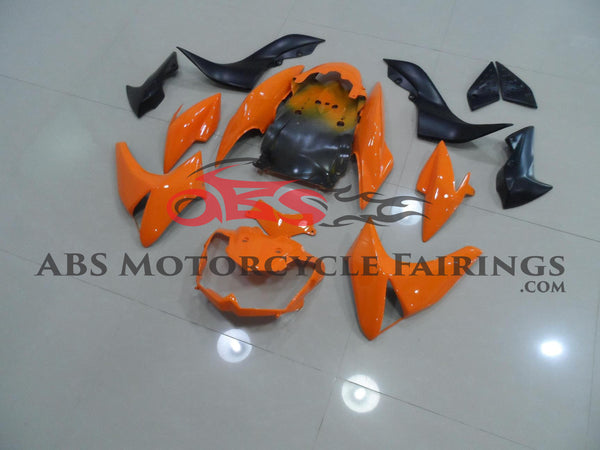 Orange & Black Fairing Kit for 2007-2009 Kawasaki Z1000