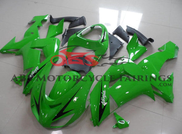 Green with Black Arrow 2006-2007 Kawasaki ZX-10R