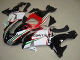 Kawasaki ZX10R (2006-2007) Black, White, Red & Green Fairings