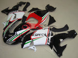 Black, White, Red and Green Fairing Kit for a 2006 & 2007 Kawasaki ZX-10R motorcycle