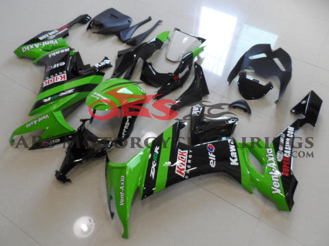 Kick Green & Black 2008-2010 Kawasaki ZX-10R