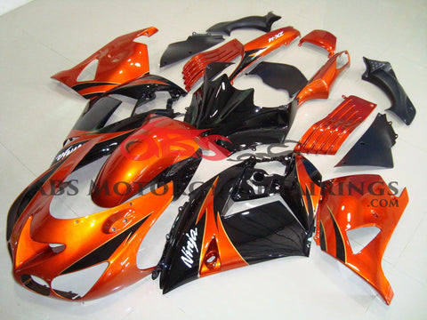 Orange & Black Ninja 2006-2007 Kawasaki ZX-14R