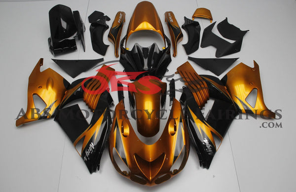 Kawasaki Ninja ZX14R (2006-2011) Gold & Black Fairings