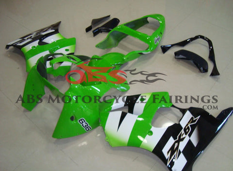 Ninja Green White & Black 2000-2002 Kawasaki ZX-6R 636