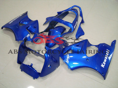 All Blue with White Decals 2000-2002 Kawasaki ZX-6R 636
