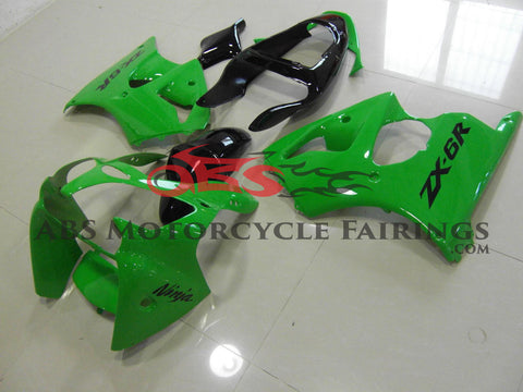 All Green 2000-2002 Kawasaki ZX-6R 636