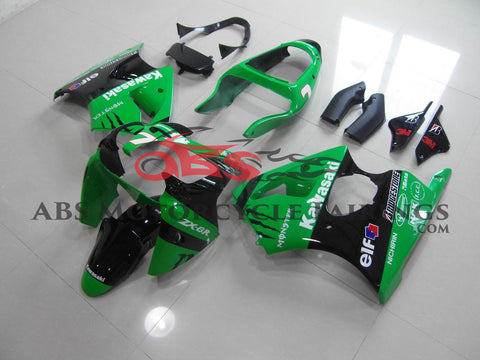 Monster Elf Green & Black 2000-2002 Kawasaki ZX-6R 636