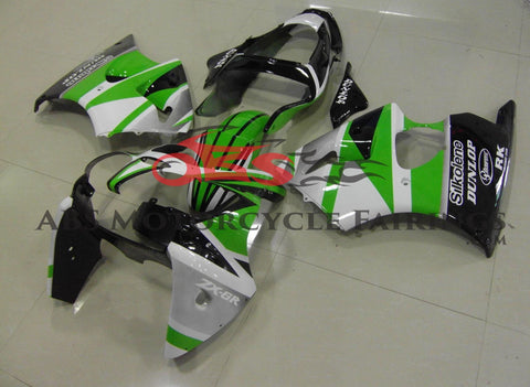 Green & White Stripe 2000-2002 Kawasaki ZX-6R 636