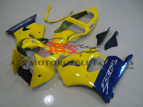 Yellow & Blue 2000-2002 Kawasaki ZX-6R 636