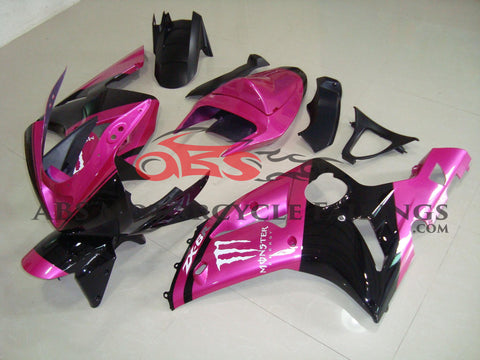 Monster Pink & Black 2003-2004 Kawasaki ZX-6R 636